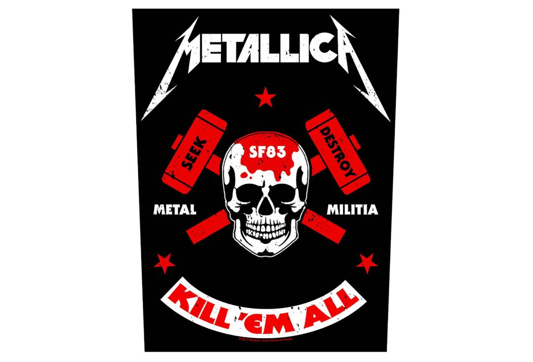 Official Band Merch | Metallica - Metal Milisha Printed Back Patch