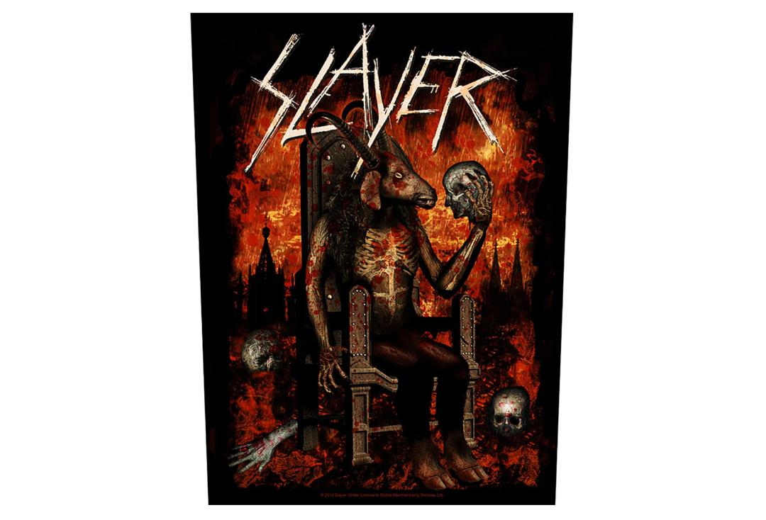 Official Band Merch | Slayer - Devil On Throne Printed Back Patch