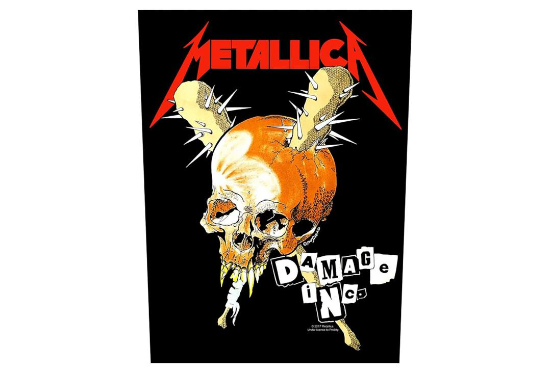 Official Band Merch | Metallica - Damage Inc. Printed Back Patch