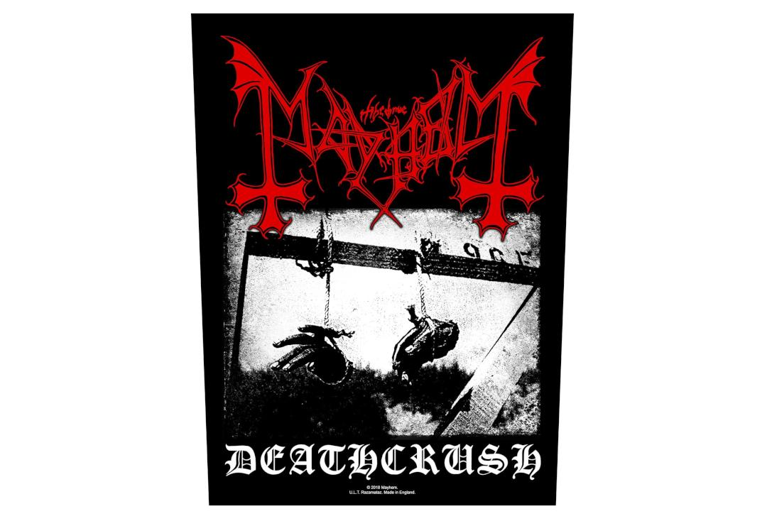 Official Band Merch | Mayhem - Deathcrush Printed Back Patch