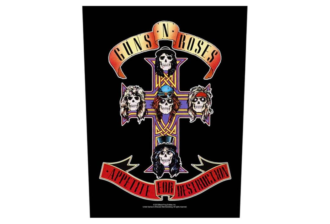 Official Band Merch | Guns 'N' Roses - Appetite For Destruction Printed Back Patch