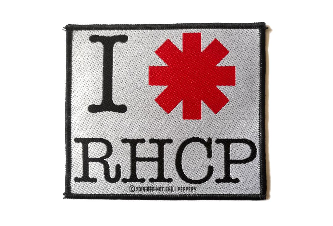 Official Band Merch | Red Hot Chili Peppers - I Love RHCP Woven Patch