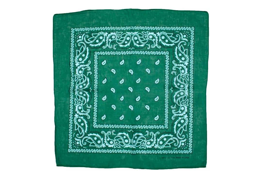 Void Clothing | Teal Green Paisley Cotton Bandana