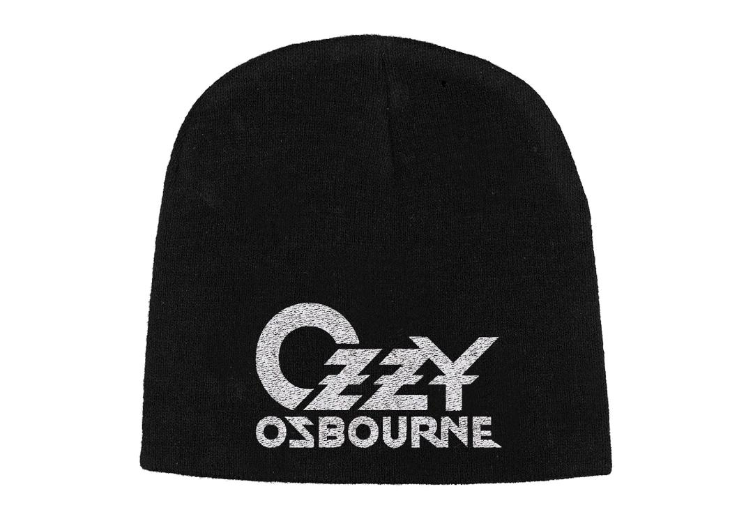 Official Band Merch | Ozzy Osbourne - Logo Embroidered Knitted Beanie Hat