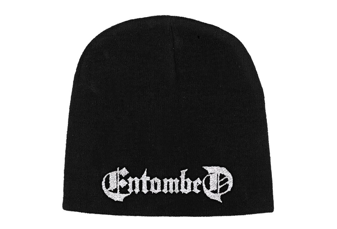 Official Band Merch | Entombed - Logo Embroidered Knitted Beanie Hat