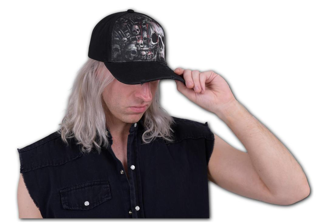 Spiral Direct | Death Ribs Distressed Baseball Cap - Modelled