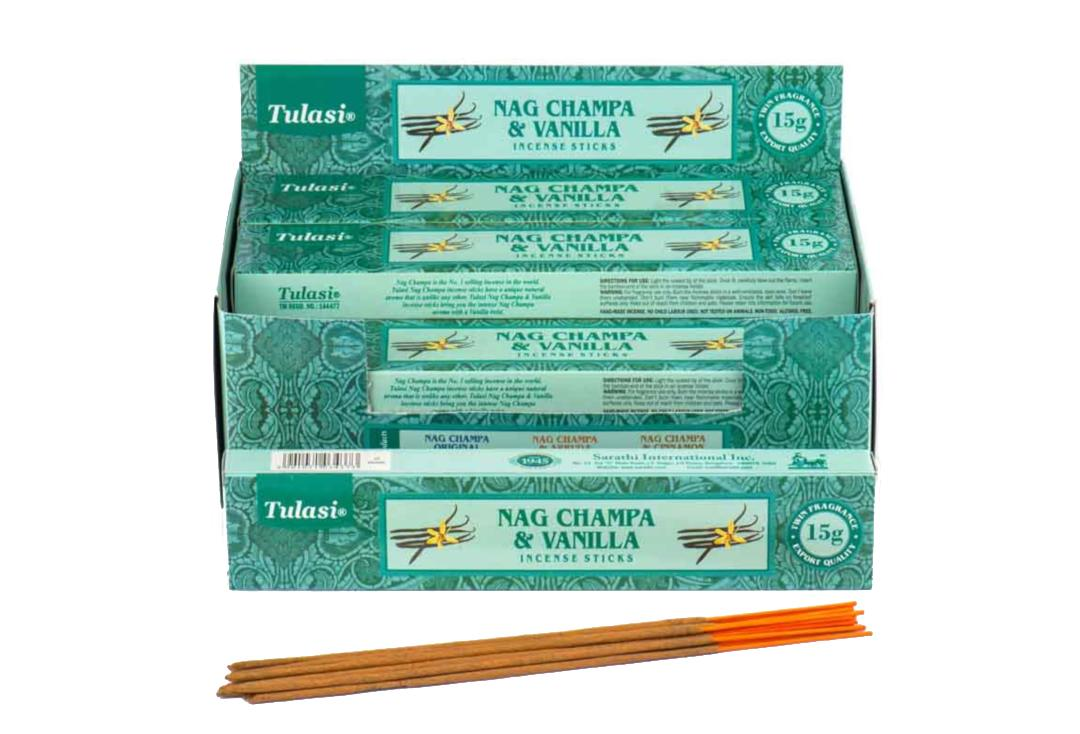 Tulasi | Vanilla & Nag Champa Incense Sticks