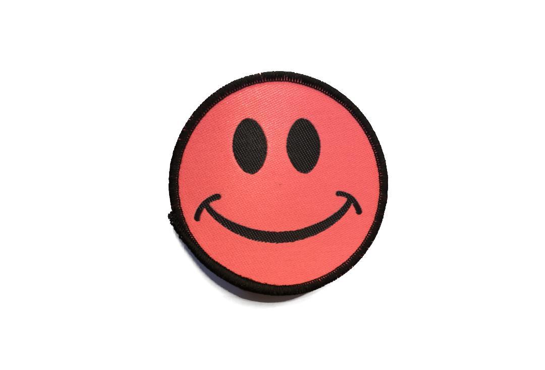 Void Clothing | Pink Smiley Woven Patch