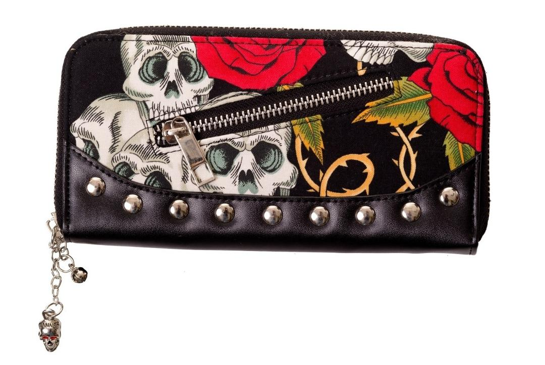 Banned Apparel | Skulls & Roses Purse - Front