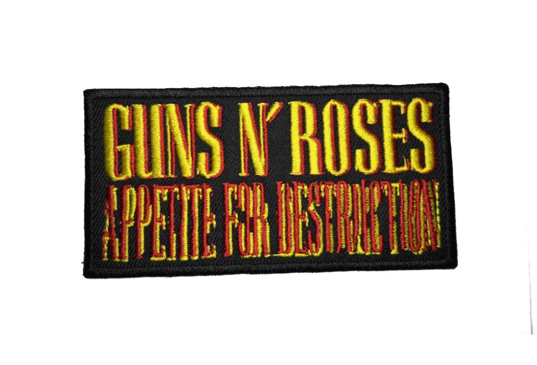Official ~Band Merch | Guns N' Roses - Appetite For Destruction Logo Woven Patch