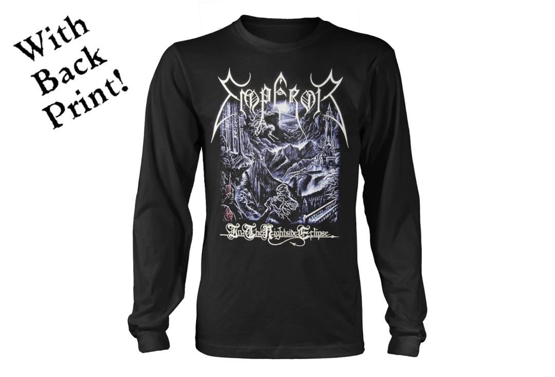Official Band Merch | Emperor - In The Nightside Eclipse Men's Official Long Sleeve T-Shirt - Front