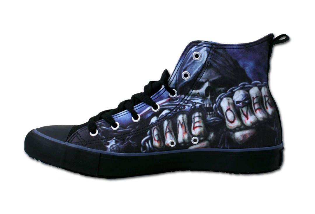 Game Over Men's Spiral Lace Up High Top Sneakers