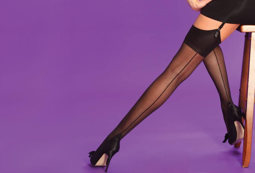 Silky | Seamers Black Stockings