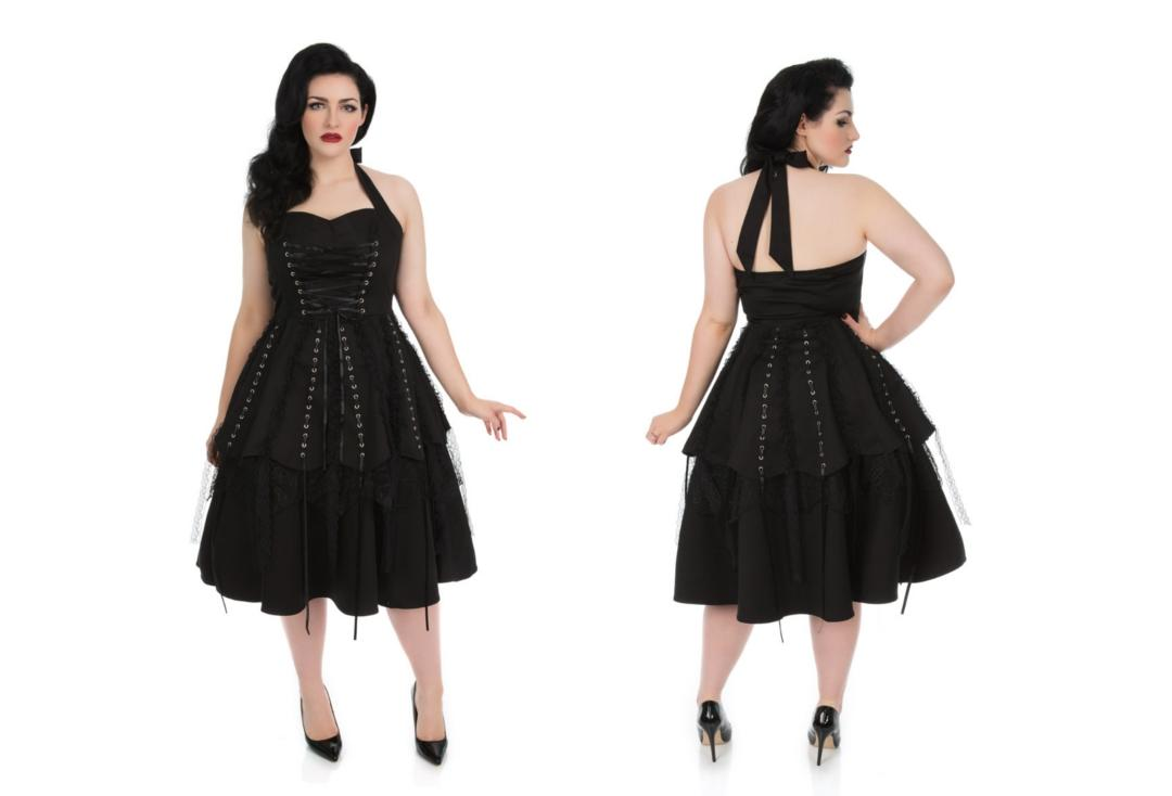 Hearts & Roses | Black Long Laces 6421 Dress
