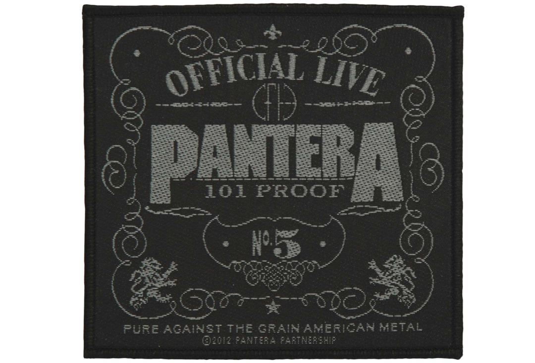 Official Band Merch | Pantera - 101 Proof Woven Sew On Patch
