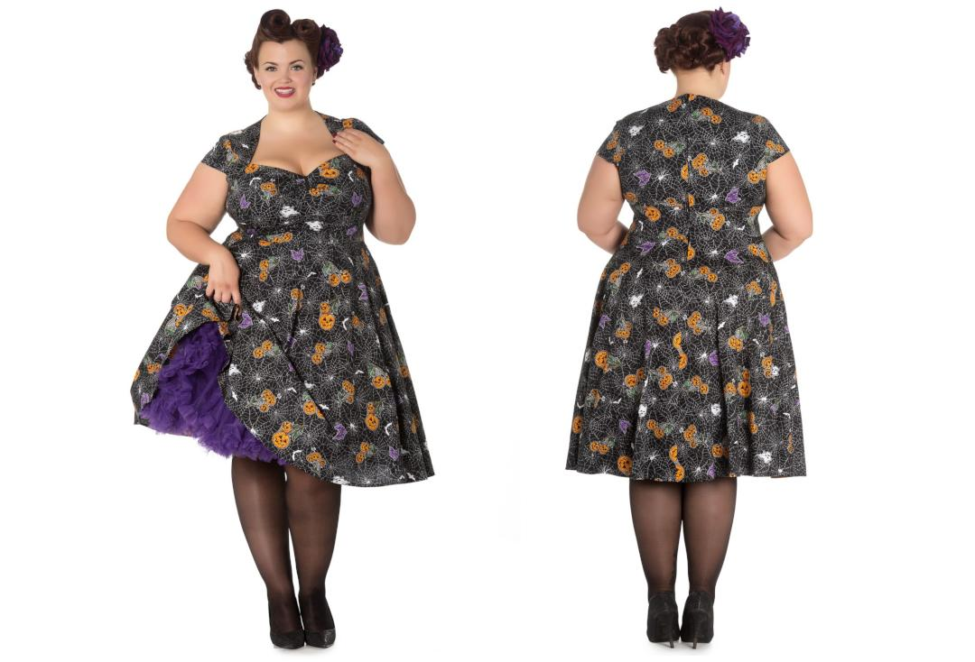 Hell Bunny | Harlow Halloween Dress - Front & Back