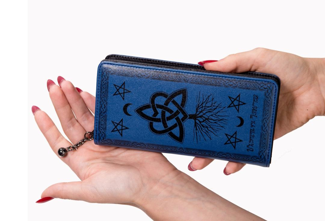 Banned Apparel | Blue Last Hope Purse - Front