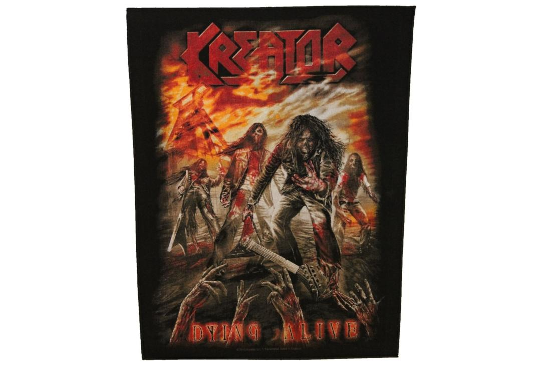 Official Band Merch | Kreator - Dying Alive Printed Back Patch