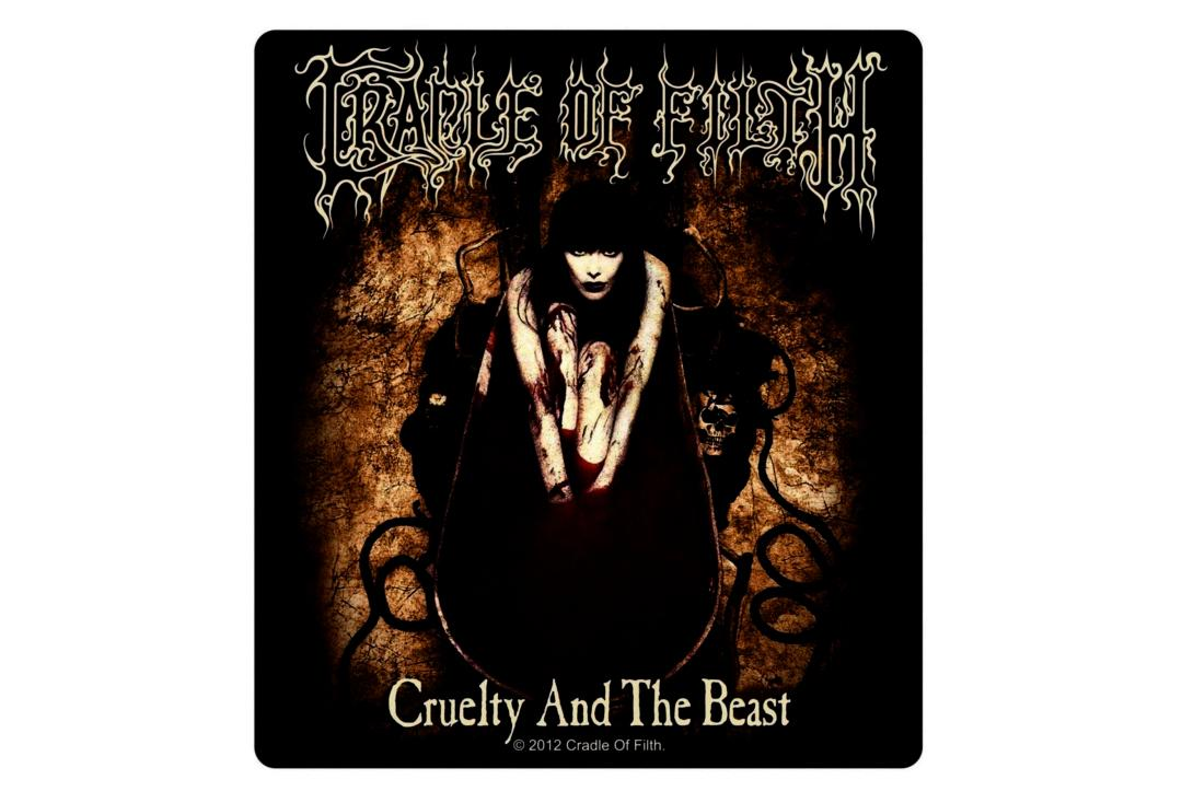 Official Band Merch | Cradle Of Filth - Cruelty Of The Beast Vinyl Sticker