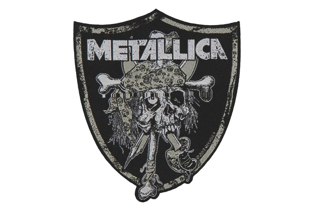 Official Band Merch | Metallica - Raiders Skull Woven Patch