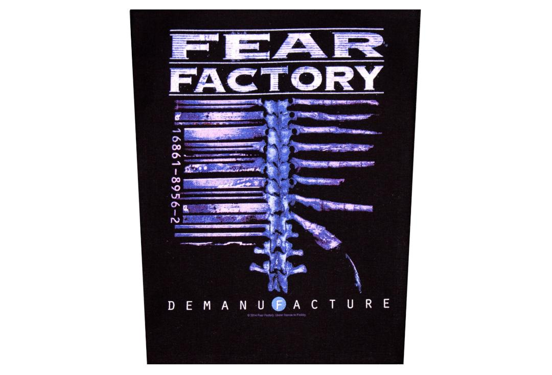 Official Band Merch | Fear Factory - Demanufacture Printed Back Patch