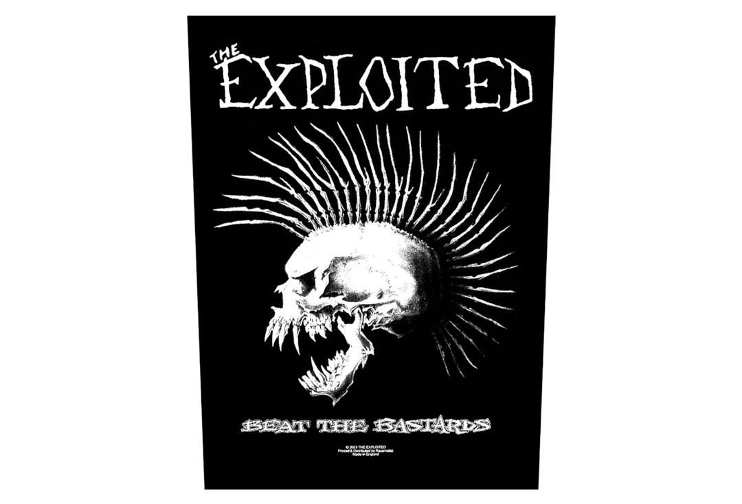 Official Band Merch | The Exploited - Beat The Bastards Printed Back Patch