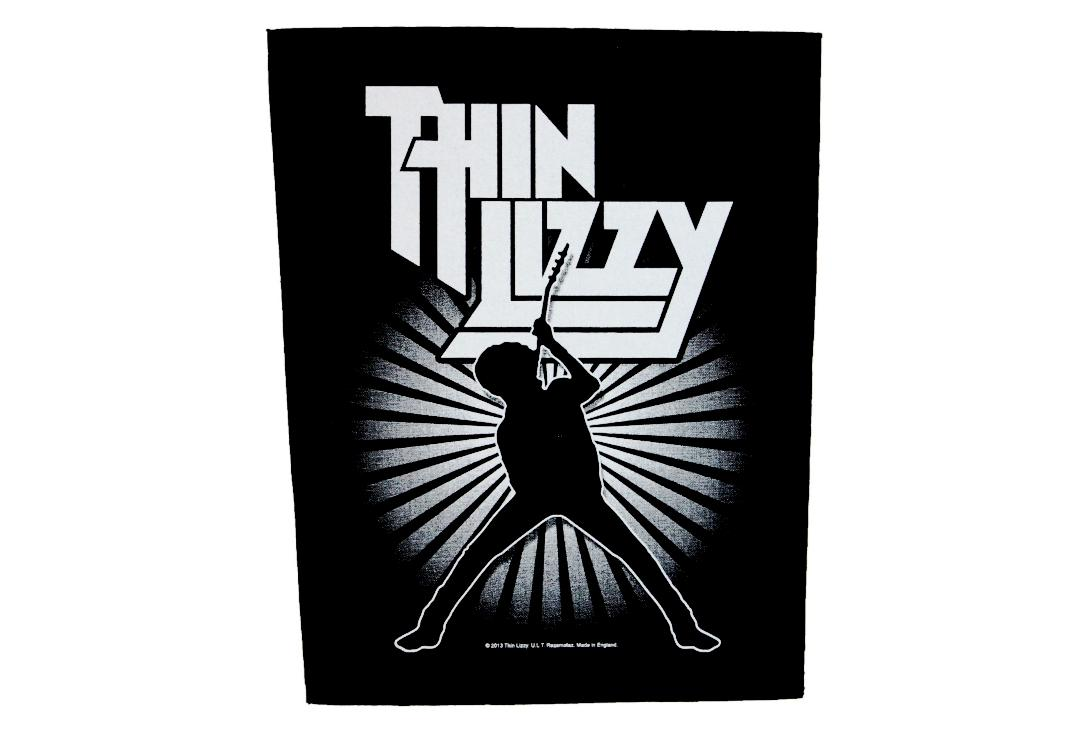 Official Band Merch | Thin Lizzy - Silhouette Printed Back Patch