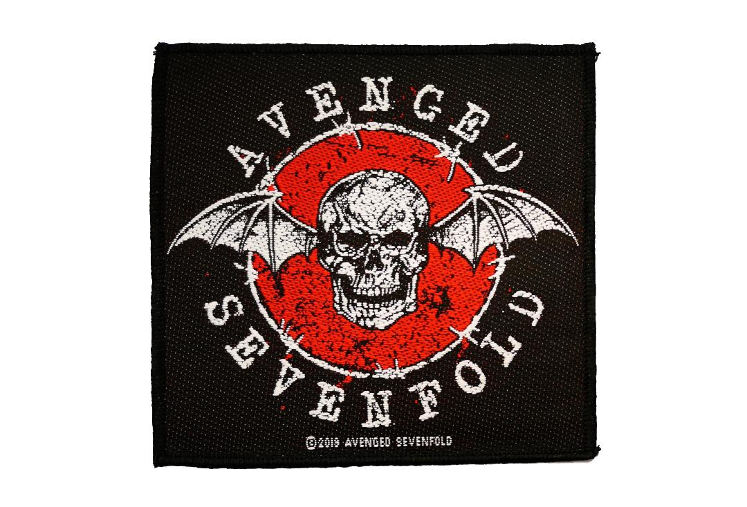 Official Band Merch | Avenged Sevenfold - Distressed Skull Woven Patch