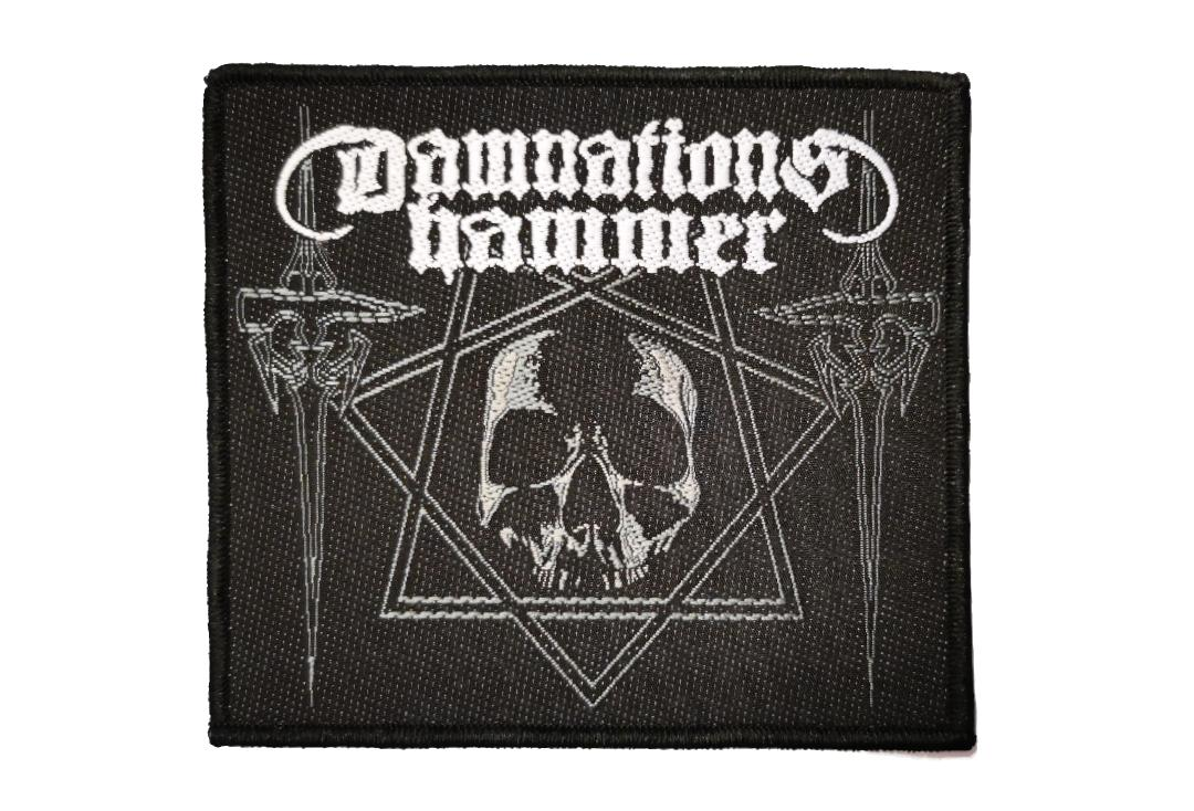 Official Band Merch | Damnation's Hammer - Hammers & Skull Woven Patch
