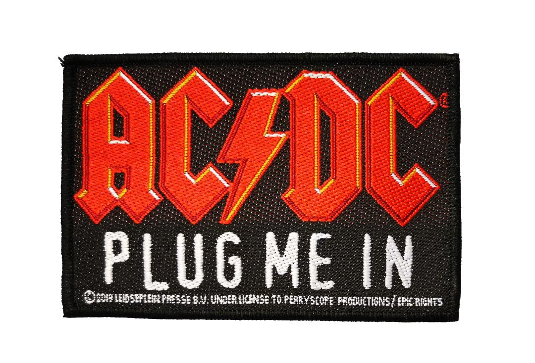 Official Band Merch | AC/DC - Plug Me In Woven Patch