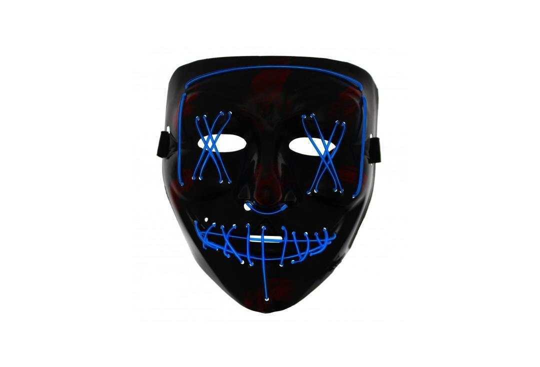 Void Clothing | Blue Purge LED Light Up Plastic Mask