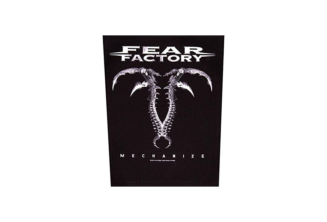 Official Band Merch | Fear Factory - Mechanize Printed Back Patch