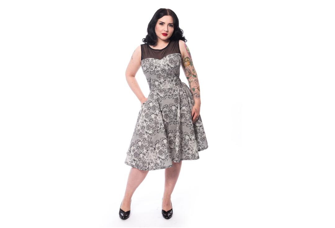 Rockabella | Azeth Black & White Dress - Front