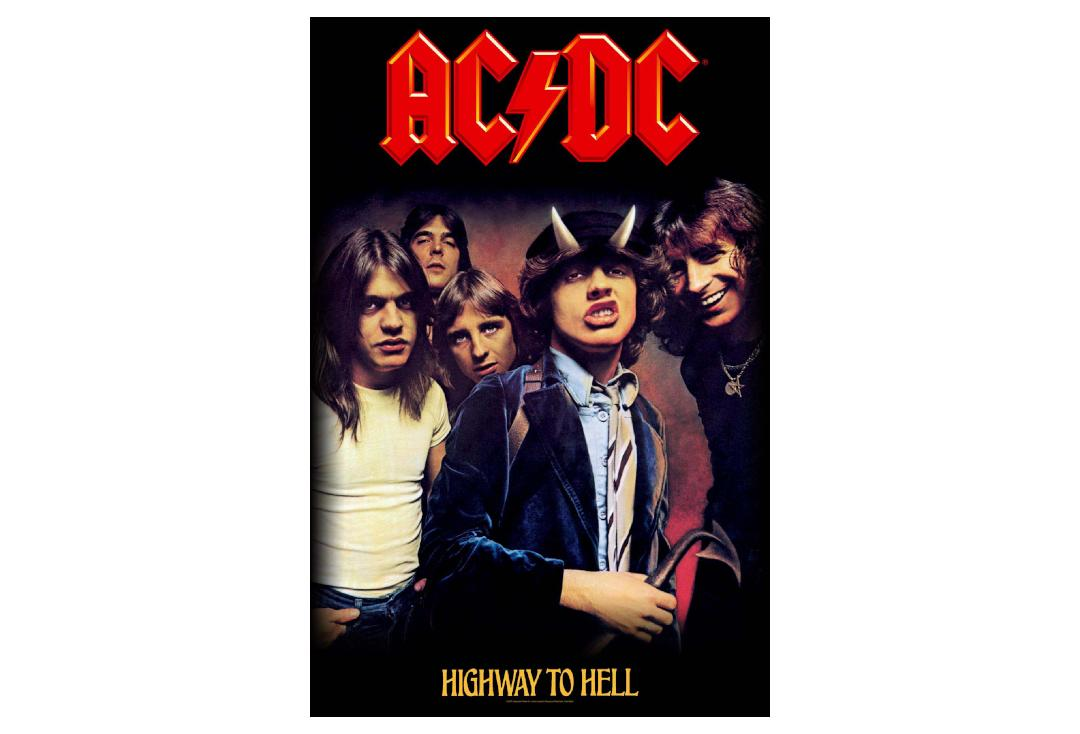 Official Band Merch | AC/DC - Highway To Hell Printed Textile Poster
