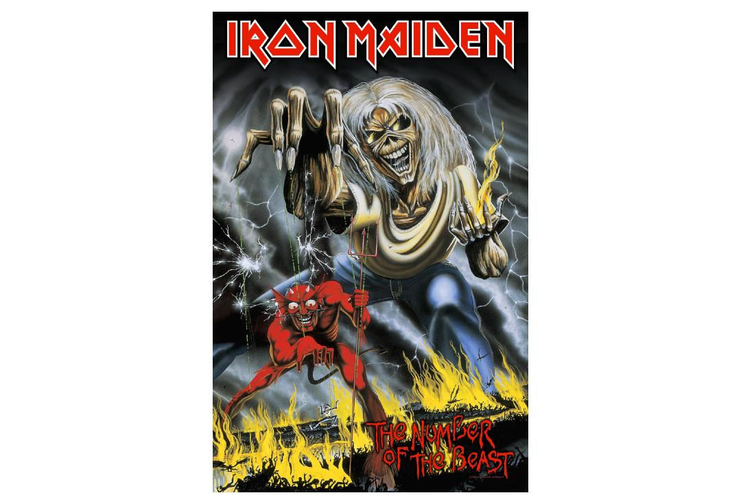 Official Band Merch | Iron Maiden - Number Of The Beast Printed Textile Poster