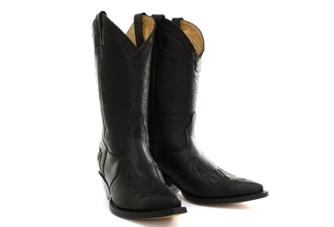 Grinders | Arizona Grinders Women's Black Leather Cowboy Boots - 2 Boots