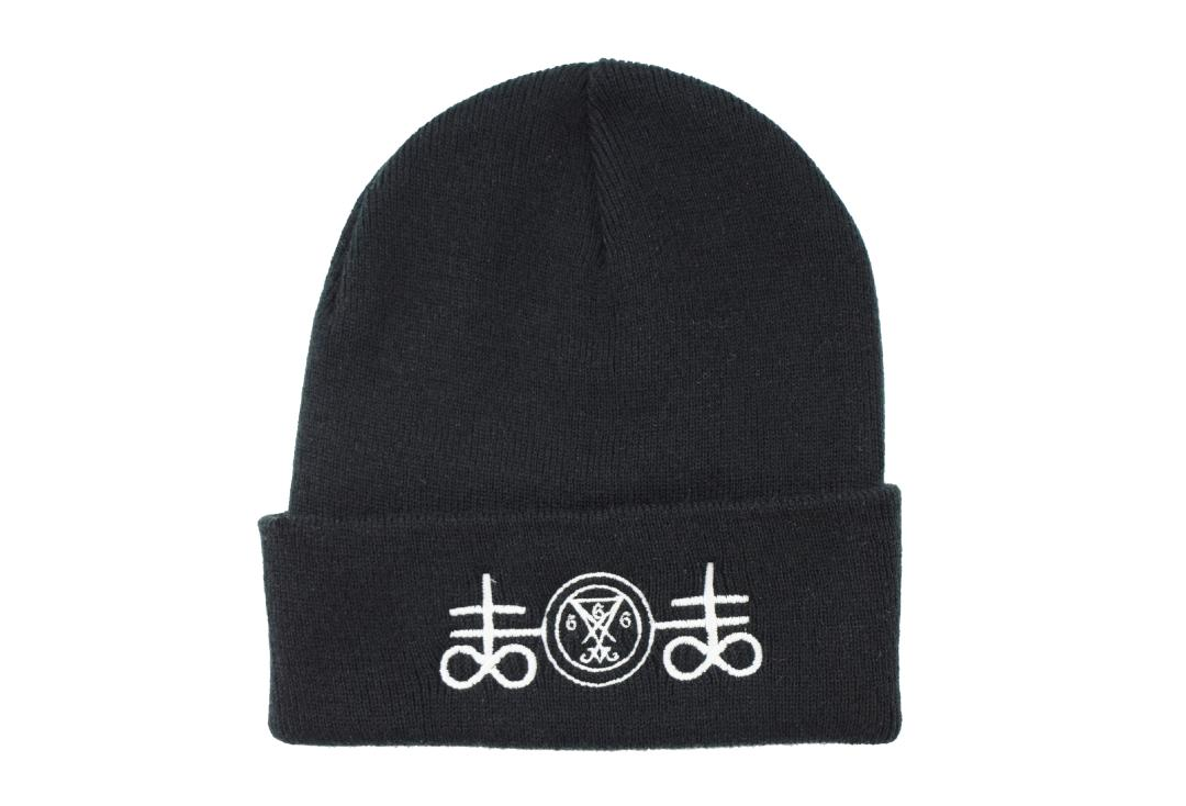 Darkside Clothing | Satanic Symbols Darkside Beanie Hat