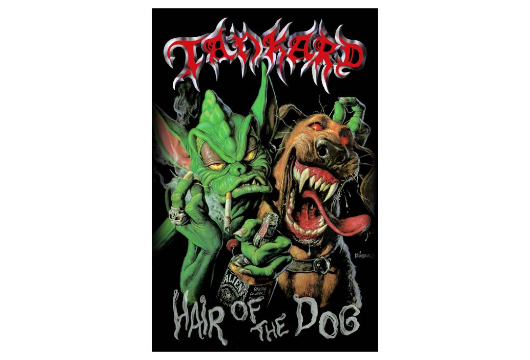 Official Band Merch | Tankard - Hair Of The Dog Printed Textile Poster