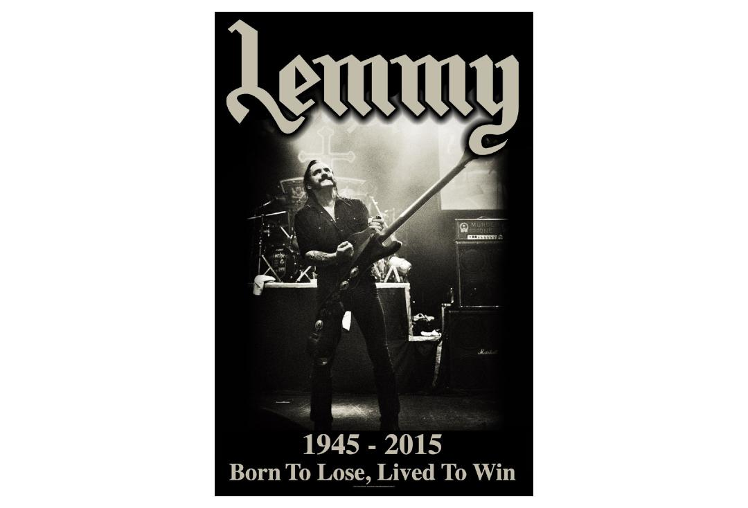 Official Band Merch | Lemmy - Lived To Win Printed Textile Poster