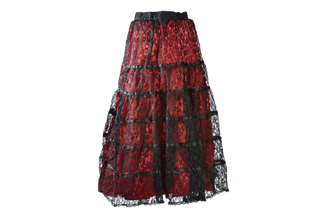 Darkstar By Jordash | Red Lace Tiered Skirt