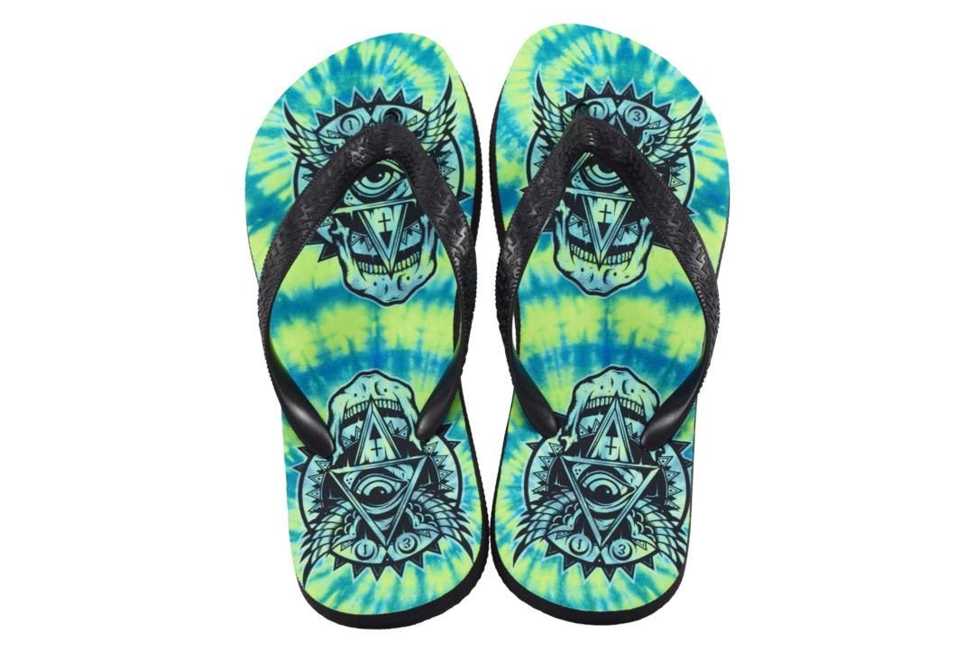 Darkside Clothing | All Seeing Eye Tie Dyed Unisex Flip-Flops