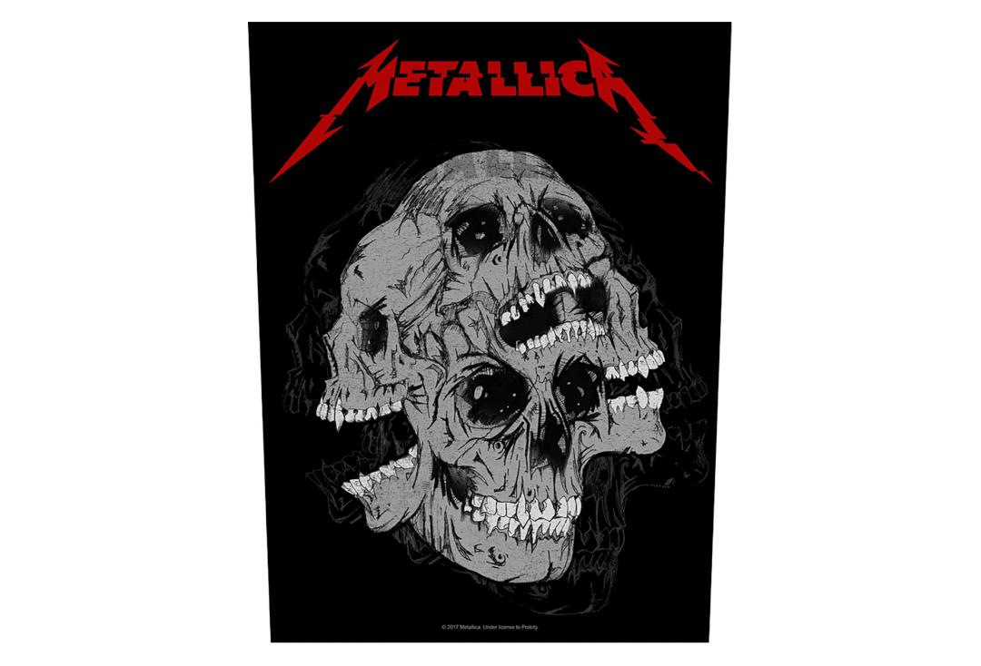 Official Band Merch | Metallica - Skulls Printed Back Patch
