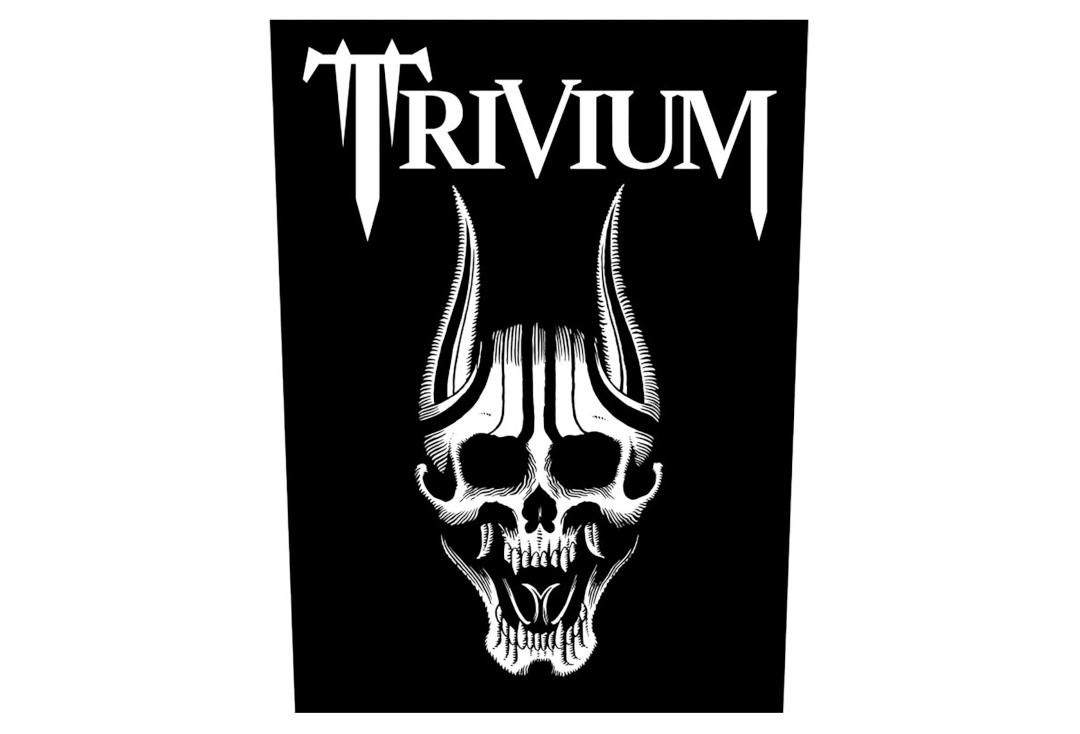 Official Band Merch | Trivium - Screaming Skull Printed Back Patch