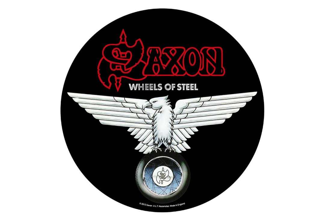 Official Band Merch | Saxon - Wheels Of Steel Printed Back Patch