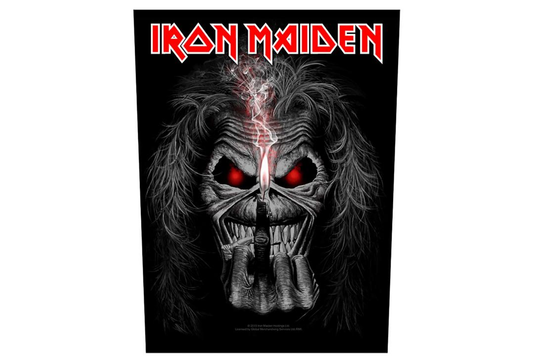 Official Band Merch | Iron Maiden - Eddie Candle Finger Printed Back Patch