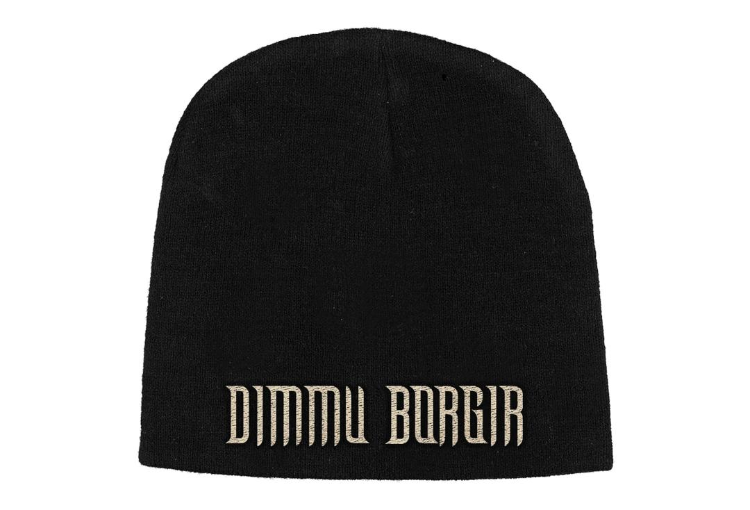 Official Band Merch | Dimmu Borgir - Logo Embroidered Knitted Beanie Hat