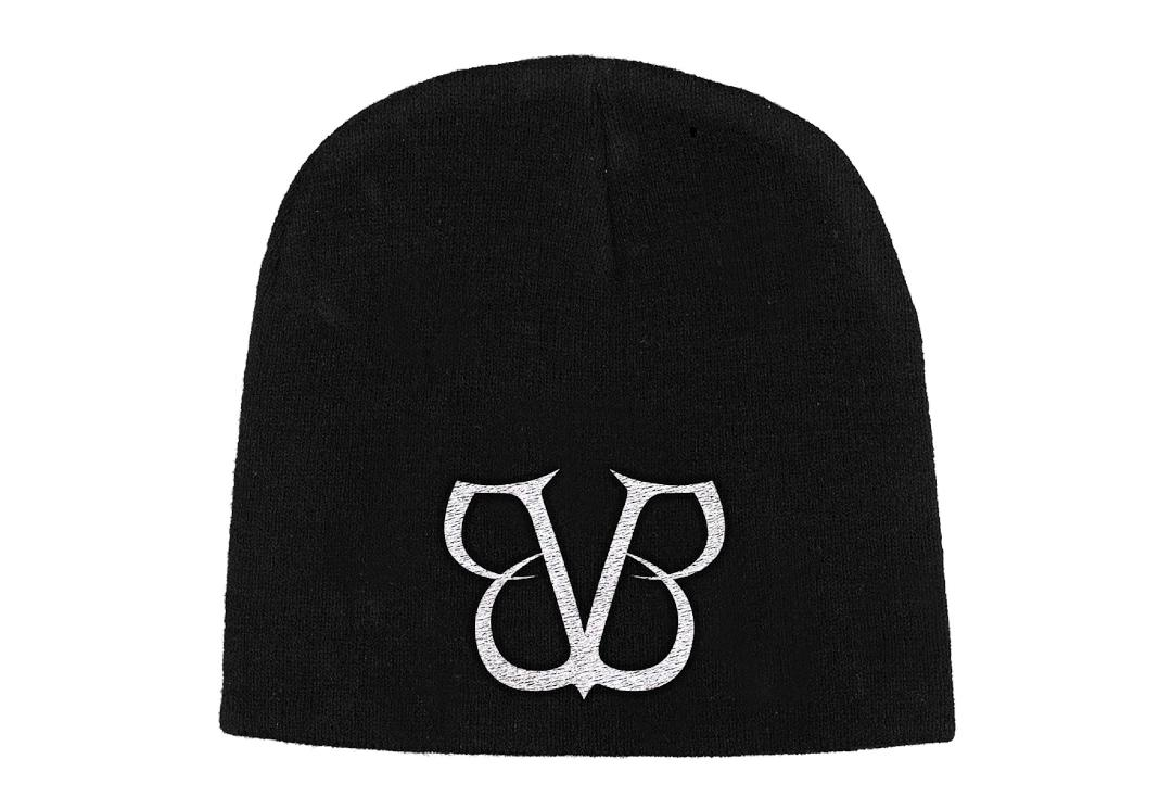 Official Band Merch | Black Veil Brides - BVB Logo Embroidered Knitted Beanie Hat