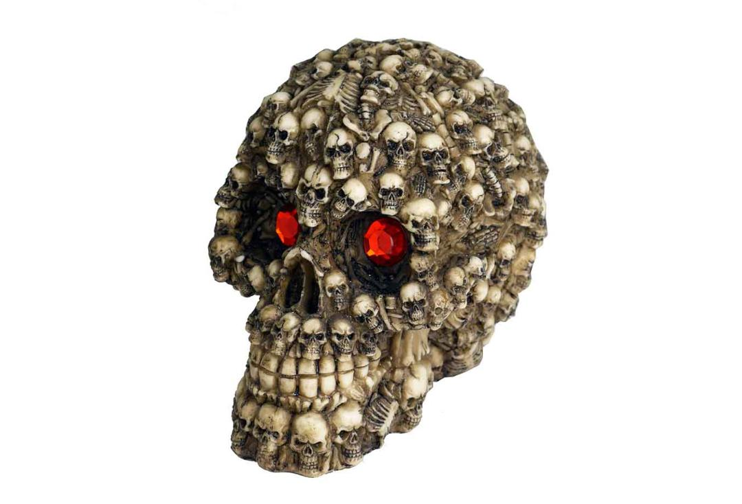 Void Clothing | Red Eyed Skully Skull Decoration