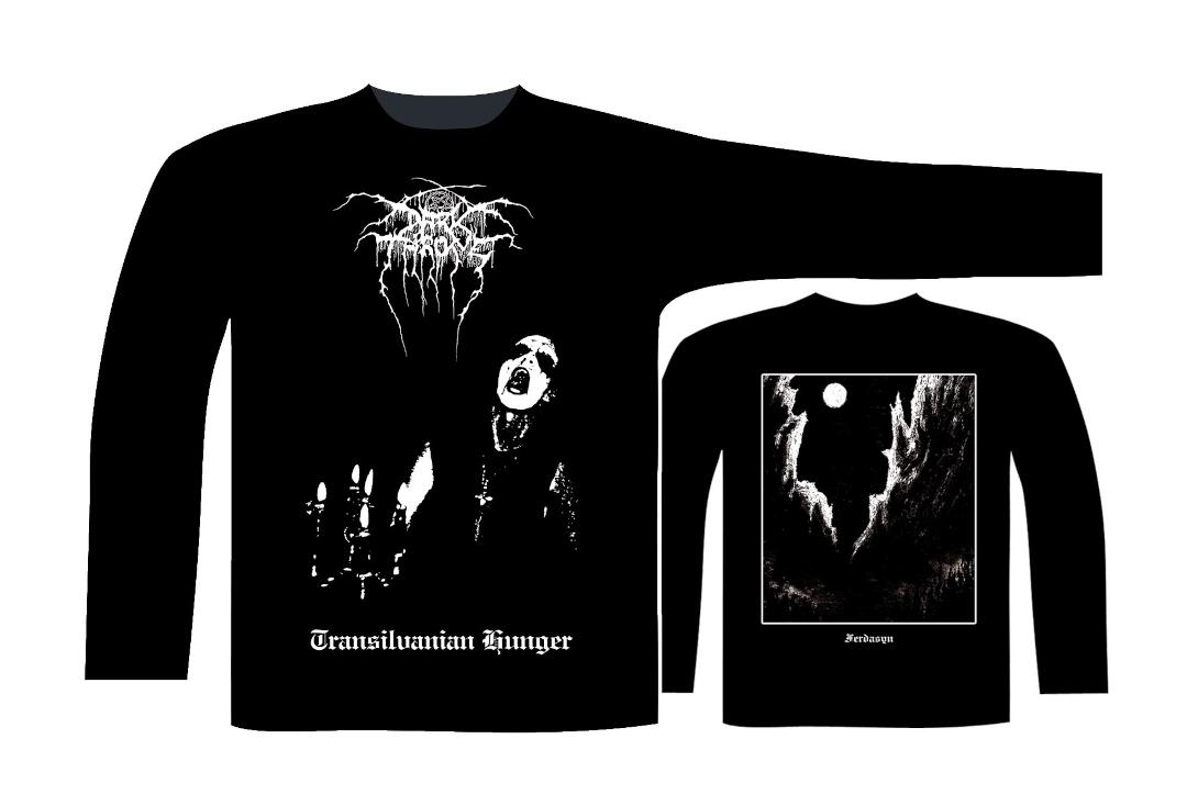 Official Band Merch | Darkthrone - Transilvanian Hunger Men's Official Long Sleeve T-Shirt