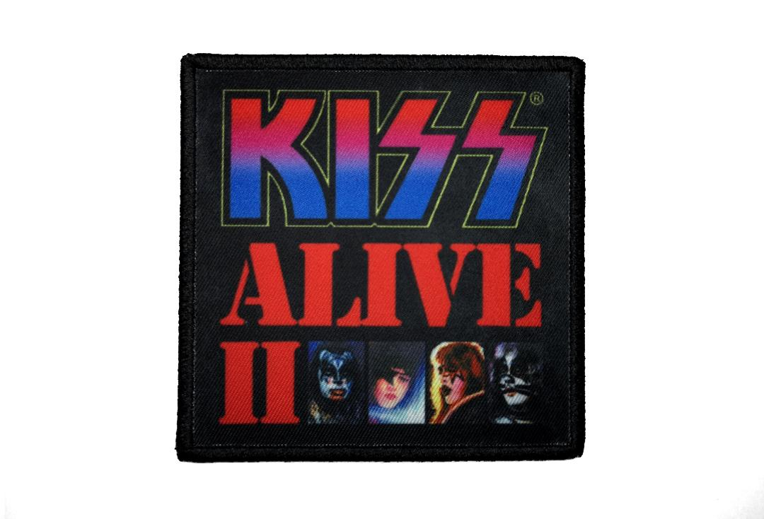 Official Band Merch | Kiss - Alive II Album Cover Woven Patch